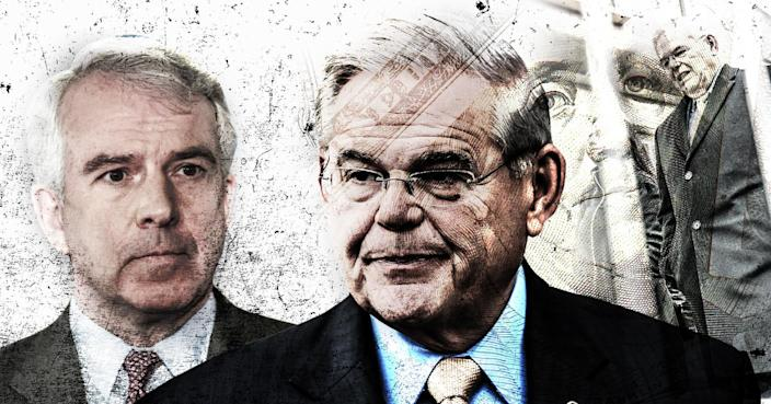 Bob Hugin, the Republican candidate for U.S. Senate in New Jersey, and Sen. Robert Menendez, D-N.J. (Yahoo News photo-illustration; photos: AP, Getty Images)