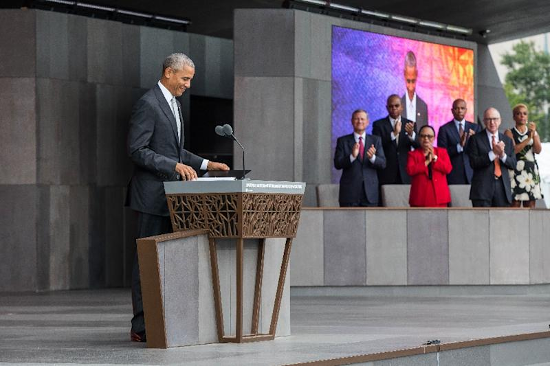"""US President Barack Obama speaks said """"discomfort"""" arising from African American history was necessary in order to better the nation (AFP Photo/Zach Gibson)"""
