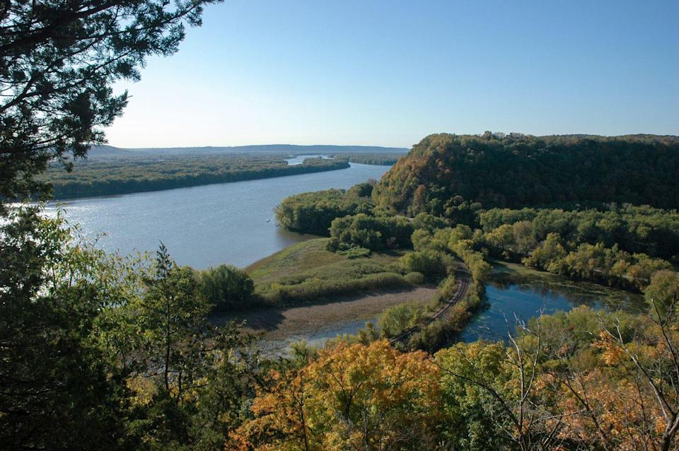 """<p><a href=""""https://www.nps.gov/efmo"""" rel=""""nofollow noopener"""" target=""""_blank"""" data-ylk=""""slk:Effigy Mounds National Monument"""" class=""""link rapid-noclick-resp""""><strong>Effigy Mounds National Monument</strong></a></p><p>This scenic preserved space highlights the Effigy Mounds created by American Indian tribes into animal shapes.</p>"""