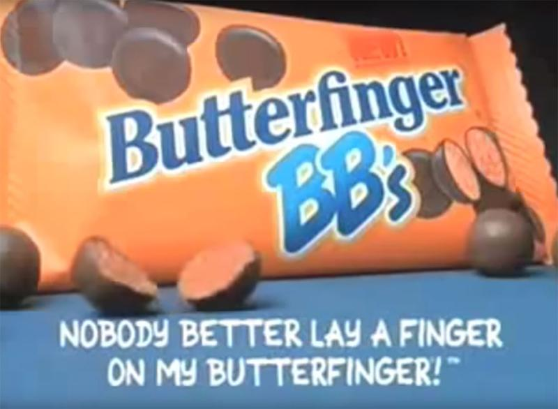 still from butterfinger bbs tv ad