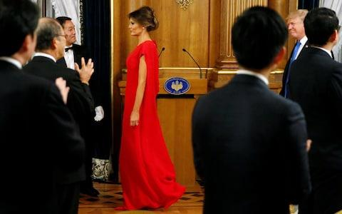 Wearing Valentino in Tokyo - Credit: Reuters