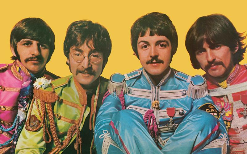 The Beatles in Sgt Pepper's Lonely Hearts Club Band mode