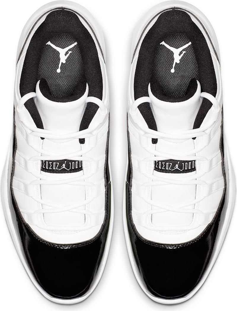 cc8add2626d6b3 The Nike Air Jordan 11 Concord golf shoe, inspired by its basketball ...