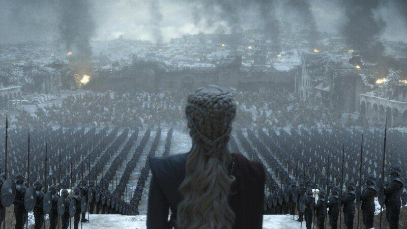 Emilia Clarke in the Game Of Thrones finale