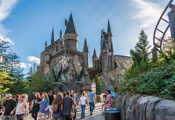 The Wizarding World of Harry Potter at Universal Studios Islands of Adventure.