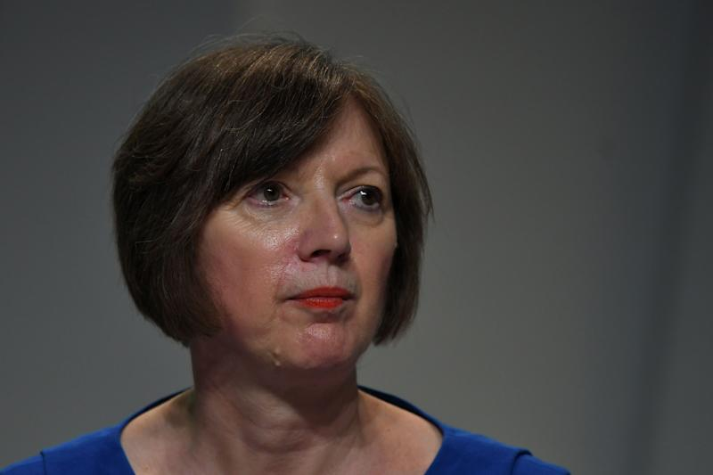 Britain's Trades Union Congress general secretary Frances O'Grady attends the Trades Union (TUC) Congress in Brighton, southern England on September 10, 2019. (Photo by Ben STANSALL / AFP) (Photo credit should read BEN STANSALL/AFP via Getty Images)