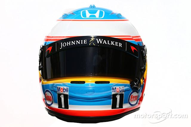 "Casco de Fernando Alonso en 2016 <span class=""copyright"">XPB Images</span>"