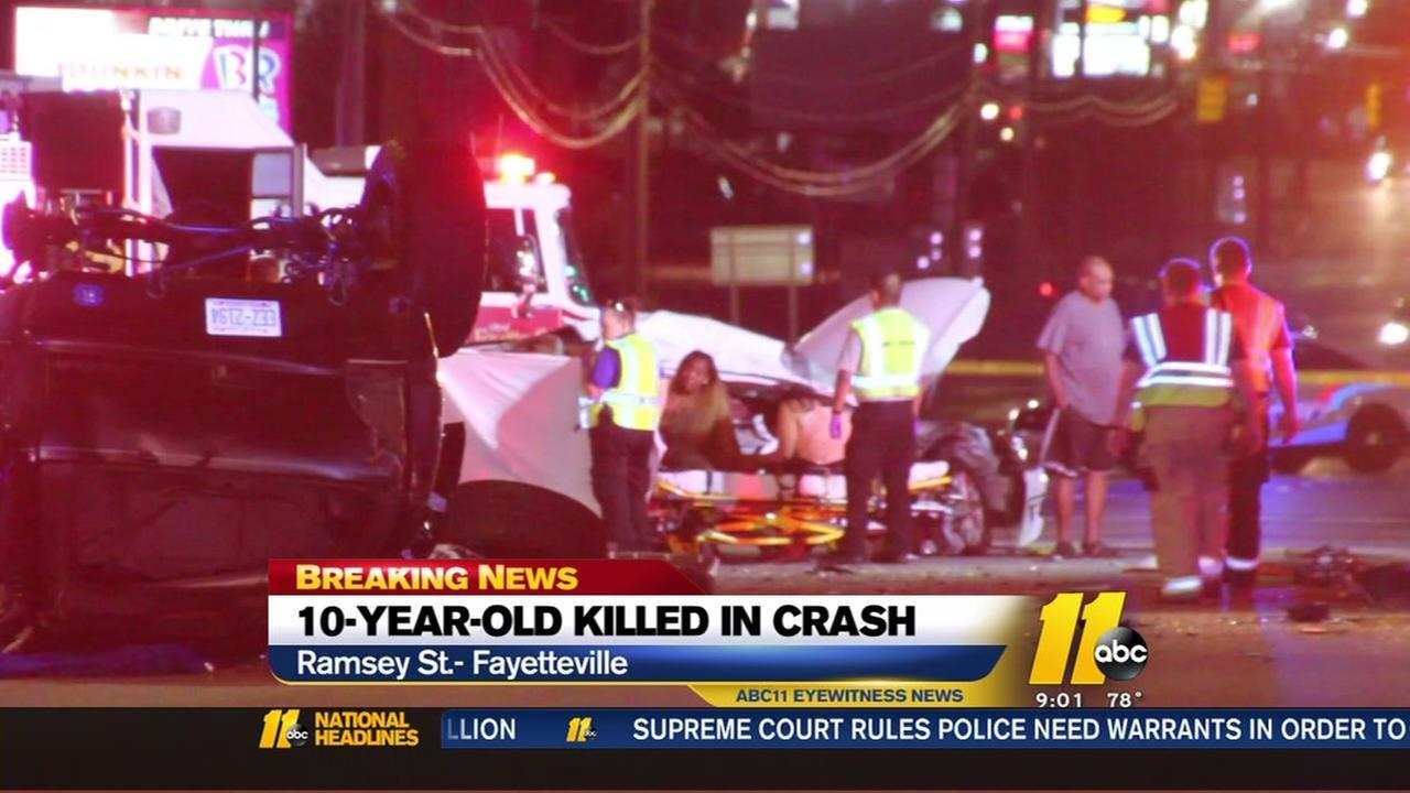Authorities say the driver in a crash that claimed the life of a 10-year-old girl has been charged with DWI.