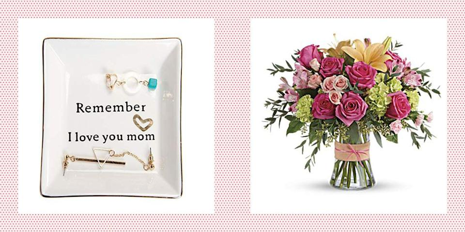"""<p>If you bought your mom a <a href=""""https://www.womansday.com/life/g26960407/funny-mothers-day-cards/"""" rel=""""nofollow noopener"""" target=""""_blank"""" data-ylk=""""slk:funny Mother's Day card"""" class=""""link rapid-noclick-resp"""">funny Mother's Day card</a> weeks ago, but forgot to buy her a <a href=""""https://www.womansday.com/relationships/family-friends/g1123/cheap-mothers-day-gifts/"""" rel=""""nofollow noopener"""" target=""""_blank"""" data-ylk=""""slk:Mother's Day gift"""" class=""""link rapid-noclick-resp"""">Mother's Day gift</a>, you're definitely not alone. Thankfully, there are plenty of last-minute Mother's Day gift ideas that will arrive at your doorstep at or before mom's special day. In other words, no need to stress. And while, you probably won't be able to get a <a href=""""https://www.womansday.com/life/g26963417/personalized-mothers-day-gifts/"""" rel=""""nofollow noopener"""" target=""""_blank"""" data-ylk=""""slk:personalized gift"""" class=""""link rapid-noclick-resp"""">personalized gift</a> made for your mom this year, you can still purchase a meaningful gift that she'll love and cherish for years to come. And as they say, it's the thought that really counts.</p><p>Thanks to <a href=""""https://www.womansday.com/relationships/family-friends/g27116515/mothers-day-gifts-amazon/"""" rel=""""nofollow noopener"""" target=""""_blank"""" data-ylk=""""slk:Amazon Prime"""" class=""""link rapid-noclick-resp"""">Amazon Prime</a>, in-store or curb-side pickup, or express shipping, shopping for a last-minute gift for mom is arguably easier than ever before. From gardening gloves, to <a href=""""https://www.womansday.com/food-recipes/food-drinks/g32713541/wine-subscription-services/"""" rel=""""nofollow noopener"""" target=""""_blank"""" data-ylk=""""slk:wine box subscriptions"""" class=""""link rapid-noclick-resp"""">wine box subscriptions</a>, to beauty products, there's something on this list for every kind of mom. She'll never have to know that you ordered that thoughtful present just two days before the holiday.</p><p>And if you are extra worried about items shipping on time due to"""