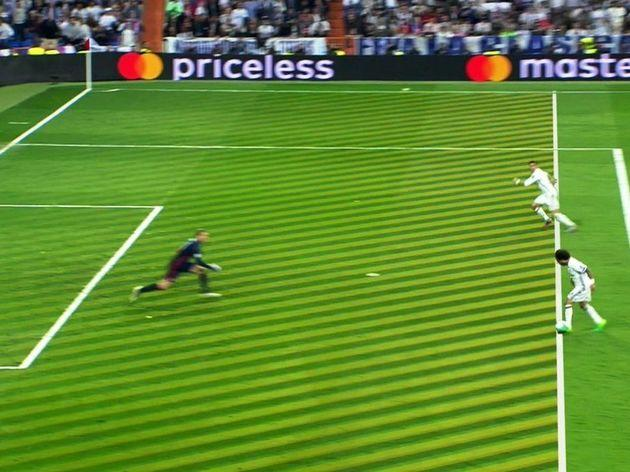 Real Madrid's second offside goal