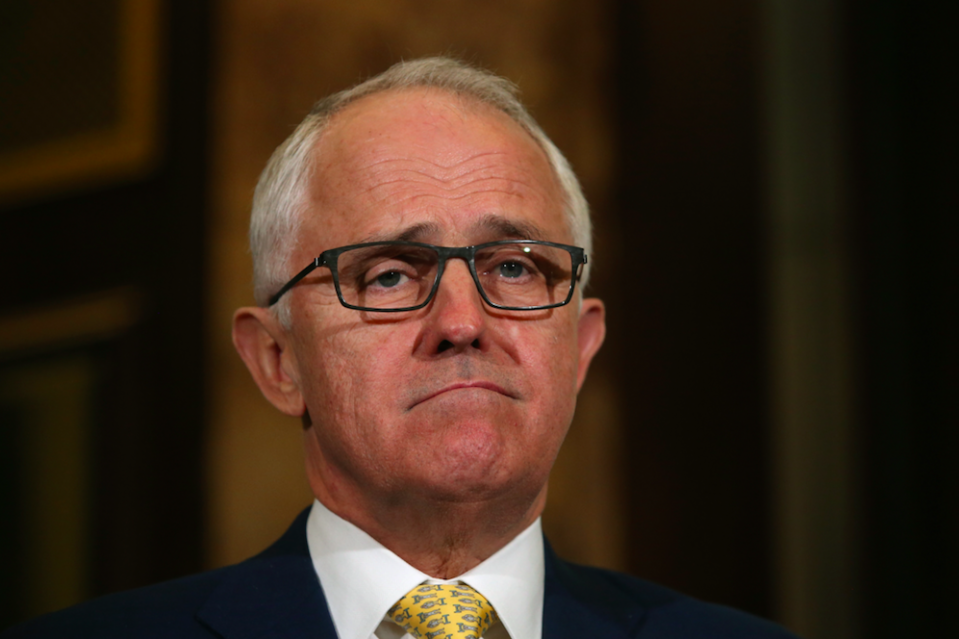 <em>Australian prime minister Malcolm Turnbull lashed out at the response from North Korea (Rex)</em>