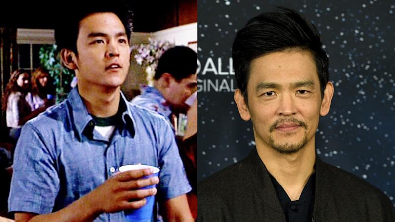 John Cho in 1999 and 2019. (Credit: Universal/Chris Pizzello/Invision/AP)
