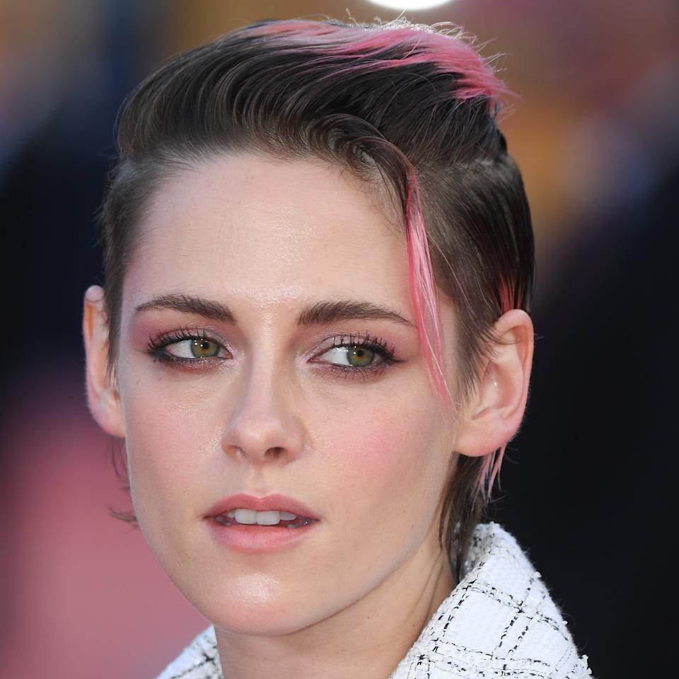 "Stewart is clearly a sucker for effortlessly cool styles — her single, face-framing tendril, <a href=""https://www.allure.com/story/kristen-stewart-pink-hair-deauville-film-festival?mbid=synd_yahoo_rss"">pink tips</a>, and slicked-back sides are all that and more."