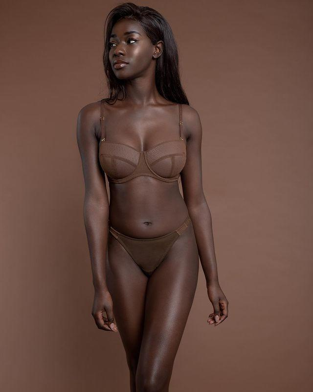 """<p><a class=""""link rapid-noclick-resp"""" href=""""https://www.nubianskin.com/"""" rel=""""nofollow noopener"""" target=""""_blank"""" data-ylk=""""slk:SHOP NUBIAN SKIN"""">SHOP NUBIAN SKIN</a></p><p>Frustrated by the lack of skin-tone choices offered by other lingerie labels, Nubian Skin founder, Ade Hassan, decided it was time for """"a different kind of nude"""". So, the London-based designer launched a carefully edited collection of lingerie and hosiery to provide the essential underwear needs of women of colour. The range includes comfortable bras and knickers, bodysuits and swimwear.</p><p><a href=""""https://www.instagram.com/p/CC9sN2AAXbl/"""" rel=""""nofollow noopener"""" target=""""_blank"""" data-ylk=""""slk:See the original post on Instagram"""" class=""""link rapid-noclick-resp"""">See the original post on Instagram</a></p>"""