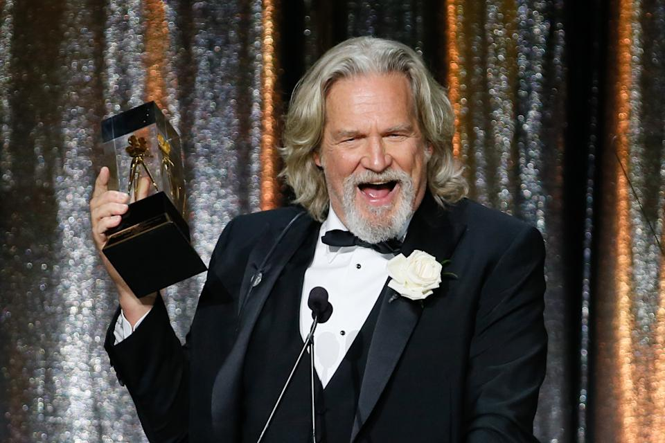 ASC Board of Governors Award honoree Jeff Bridges accepts his award at the 33rd annual ASC Awards and The American Society of Cinematographers 100th Anniversary Celebration at the Ray Dolby Ballroom at Hollywood & Highland, Saturday, February 9, 2019 in Hollywood, California. (Photo by Danny Moloshok/imageSPACE / SIPA USA)
