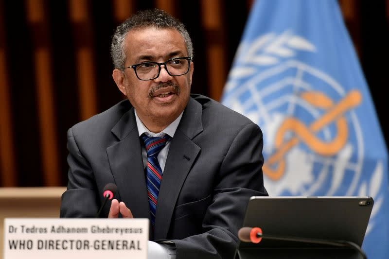 "WHO's Tedros says countries on ""dangerous track"" in pandemic"