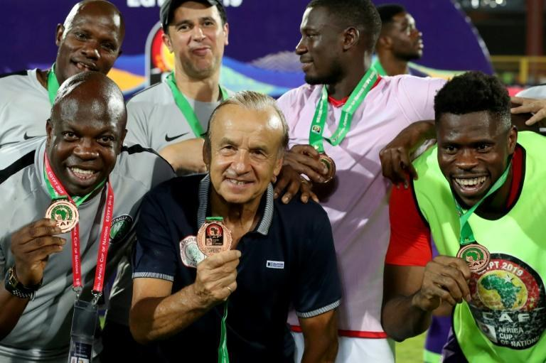 Nigeria coach Gernot Rohr in July 2019 after claiming the AFCON 3rd place