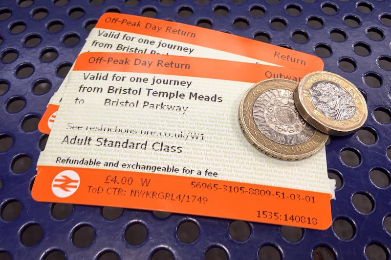 File photo dated 14/08/18 of off-peak day return rail tickets and money. Train companies have admitted overcharging thousands of passengers caught fare dodging. PRESS ASSOCIATION Photo. Issue date: Wednesday August 21, 2019. Industry body the Rail Delivery Group (RDG) told the PA news agency that eight train companies punished ticketless travellers too harshly by not implementing a rule change made in April last year. See PA story RAIL Overcharged. Photo credit should read: Ben Birchall/PA Wire
