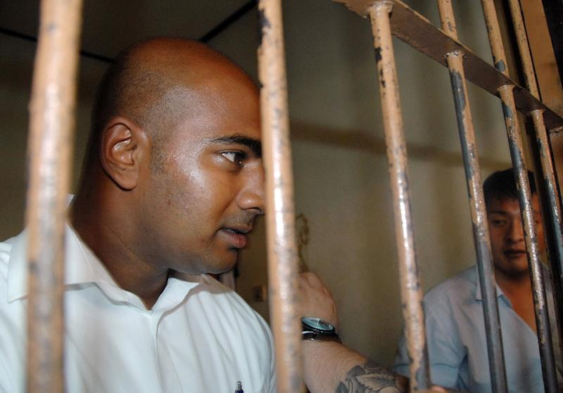File photo of Australian drug smugglers Myuran Sukumaran (L) and Andrew Chan, two of the so-called 'Bali Nine' gang, taken at a court in Denpasar, on Indonesia's Bali island, in 2010 (AFP Photo/Sonny Tumbelaka)