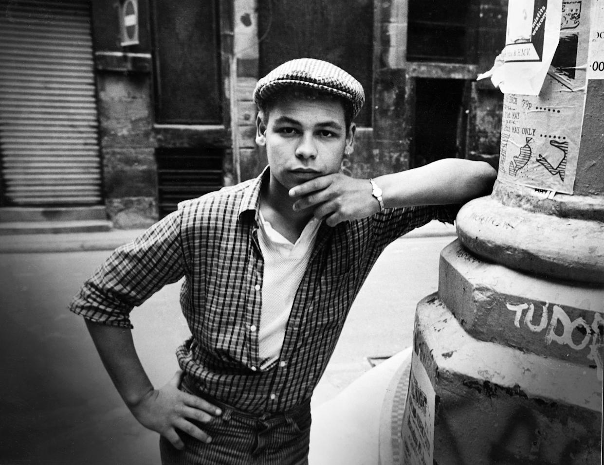 Liverpudlian television actor and comedian Craig Charles poses in his native city of Liverpool. 14th March 1985. (Photo by Stephen Shakeshaft/Liverpool Echo/MirrorpixGetty Images)