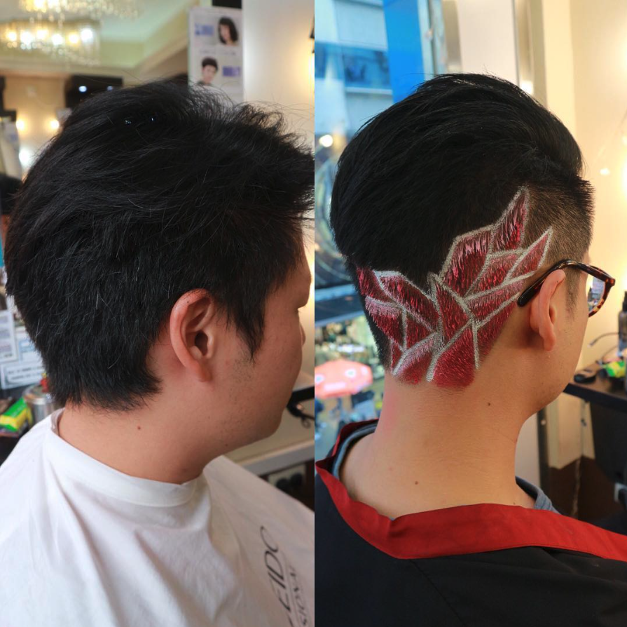 """<p>O'Halloran says undercut designs (aka hair tattooing) popular during the punk era of the '70s and '80s aren't entirely new, but adding a vibrant color as paint creates a result that's anything but outdated. There's a staggering number of undercut design images on social media, too, making it a look that's in high demand.<br>""""Imagine the sides and the back of someone's head as a blank canvas — you bleach the hair, shave in a design or pattern, and then use Manic Panic hair color as the paint,"""" he says.<br>And although this look may definitely seem on the extreme side, O'Halloran says it is suitable for daily wear if the tattoo is placed at the nape of the neck.<br>""""You can wear this style at work if it is disguised as an undercut,"""" he says. """"Be a conservative looking professional during the week, and enjoy the wild look on the weekend when you wear your hair up."""" (Photo: Instagram/kelvinkan28) </p>"""