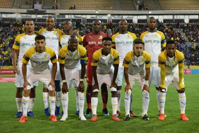 Mamelodi Sundowns lost 3-2 at Golden Arrows Sunday to remain 10 points behind leaders Kaizer Chiefs in the South African title race (AFP Photo/RODGER BOSCH)