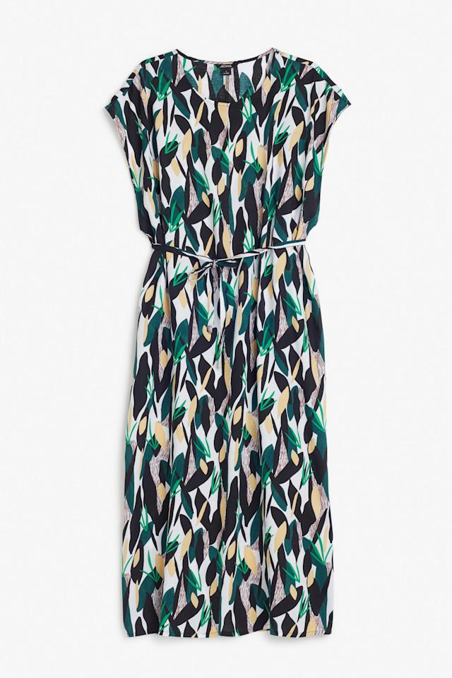 "<p>Ideal for spring when you can't decide whether to brave the cold or stick on your tights, this midi dress will give your pins a bit of protection and make them look awfully pretty too. </p><p><a href=""http://www.monki.com/gb/Dresses/Ingrid_dress/27338-15800601.1#c-49929"">Buy it here. </a></p>"