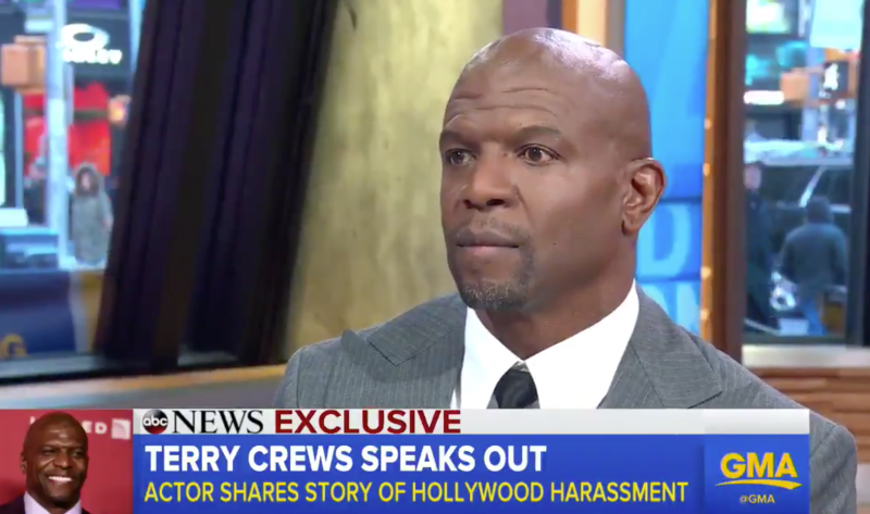 Actor Terry Crews publicly called out the man he says sexually harassed him at a Hollywood party last year.