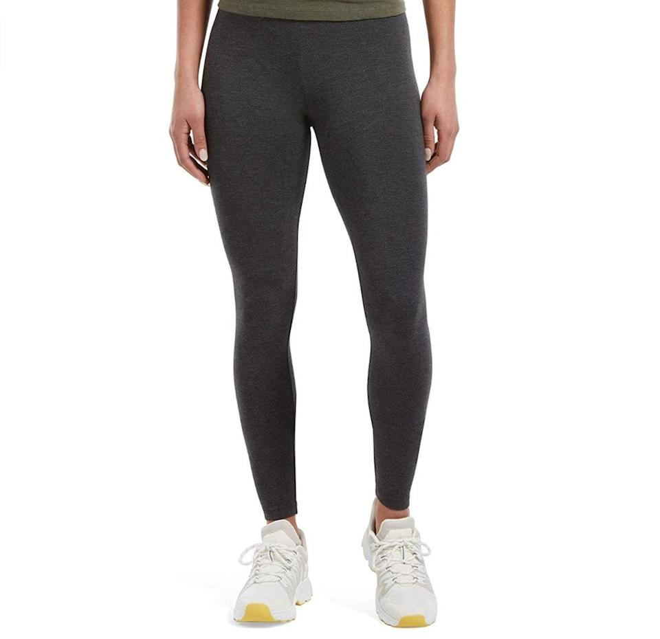 """<p><strong>Reviews & rating:</strong> 6,349 reviews, 4.4 out of 5 stars.</p> <p><strong>Key selling points:</strong> These Hue leggings are touted as the perfect everyday pair — not necessarily a workout legging, but ideal for running errands or lounging around the house. Customers love the lightweight yet opaque material and nice thick waistband.</p> <p><strong>What customers say:</strong> """"I have five pairs of these now — they are the perfect leggings for everyday wear. They're thick enough that you don't need to wear an extremely long shirt. You can't see through them. They last. The thick waistband is the highlight of them, though — it makes them feel structured. I don't know what I'd do without these!"""" —<a href=""""https://amzn.to/3uWsmhI"""" rel=""""nofollow noopener"""" target=""""_blank"""" data-ylk=""""slk:Jess"""" class=""""link rapid-noclick-resp""""><em>Jess</em></a><em>, reviewer on Amazon</em></p> $17, Amazon. <a href=""""https://www.amazon.com/Womens-Ultra-Legging-Wide-Waistband/dp/B005XLTH32/ref="""" rel=""""nofollow noopener"""" target=""""_blank"""" data-ylk=""""slk:Get it now!"""" class=""""link rapid-noclick-resp"""">Get it now!</a>"""