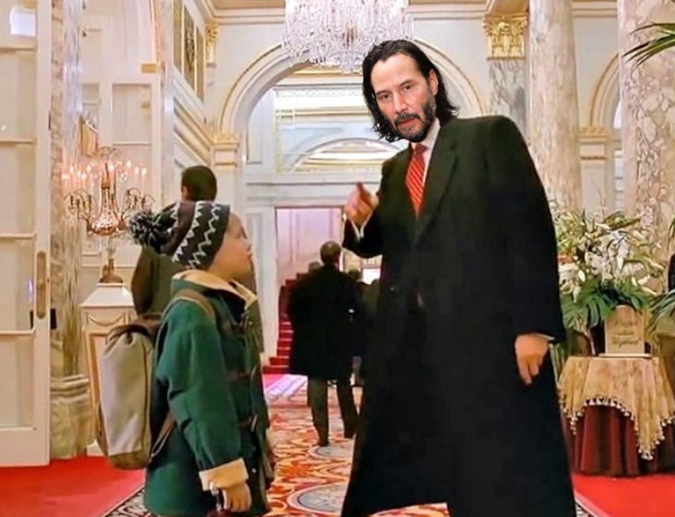 Sostituito dall'attore Keanu Reeves (Twitter)
