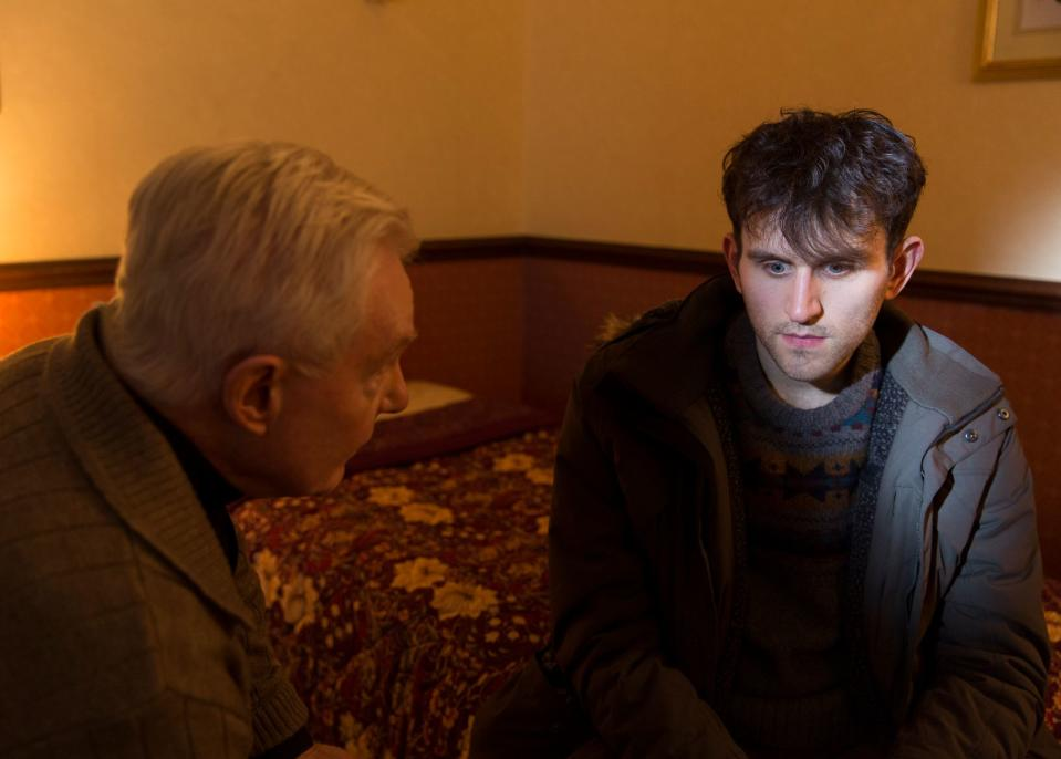 Derek Jacobi and Harry Melling in a still from <i>Say Your Prayers</i> (Central City Media)