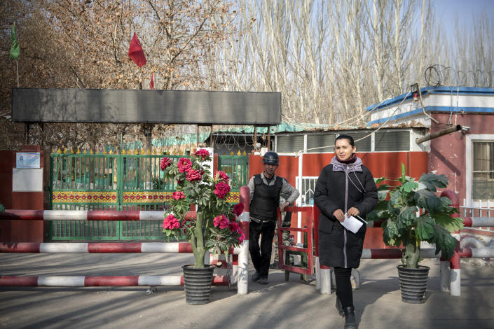 The Kasipi Village Elementary School, which was converted to a full-time boarding school last year, according to a Chinese teacher's online diary near Hotan, China, December 11, 2019. (Giulia Marchi / The New York Times)