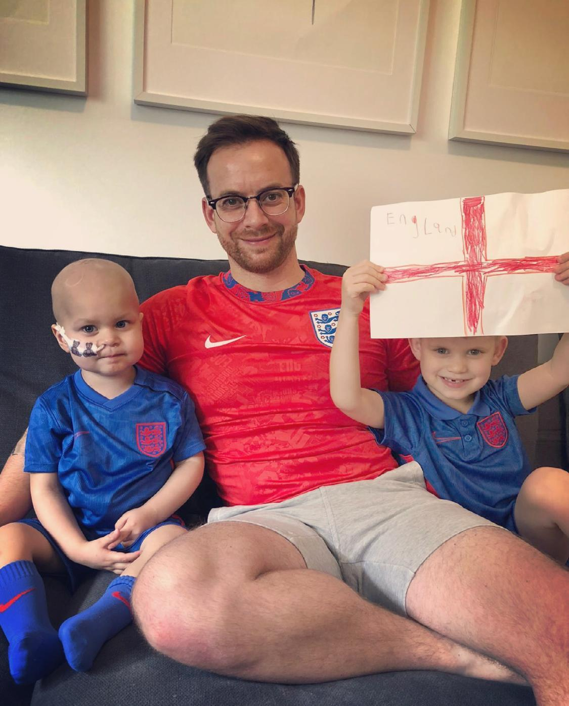 The toddler's father Matt Crick said the message had 'cheered us all up' (Brain Tumour Research/PA)