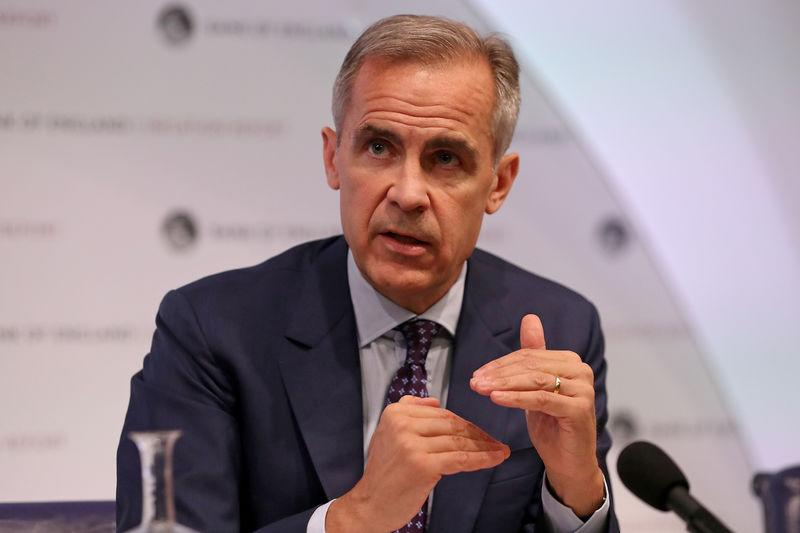Bank of England Governor, Mark Carney, speaks during the central bank's quarterly Inflation Report press conference in London