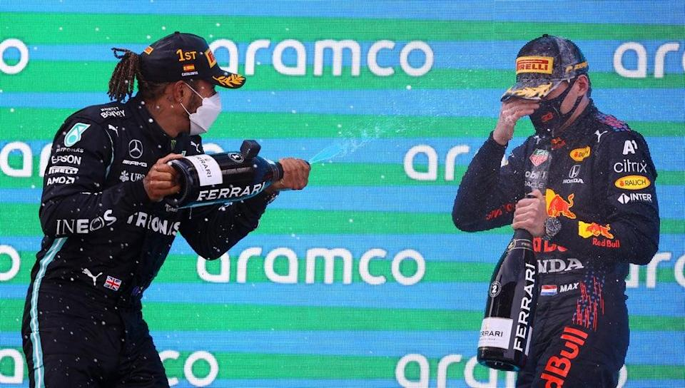 Lewis Hamilton and Max Verstappen are competing for the world championship this season   (Getty Images)