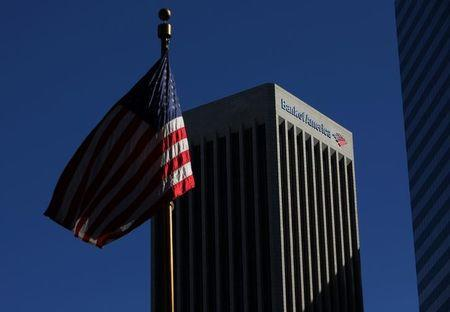 FILE PHOTO - The Bank of America building is shown in down town Los Angeles, California, U.S., March 6, 2017.    REUTERS/Mike Blake