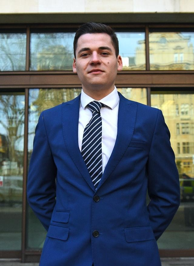 Sam Newey outside at Westminster Magistrates' Court, London, at an earlier hearing