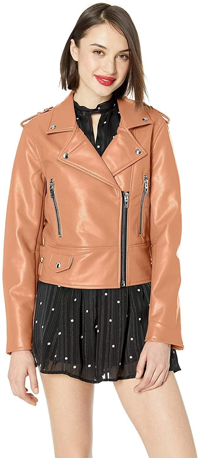 <p>Add an earthy pop of color to your wardrobe with this <span>BLANKNYC Vegan Leather Moto Jacket</span> ($62 - $118).</p>