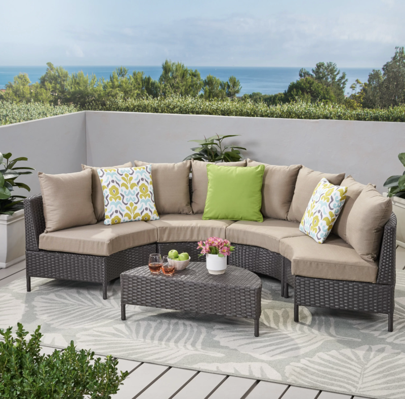 Set it up as one large couch or as four oversized comfy chairs. (Photo: Wayfair)
