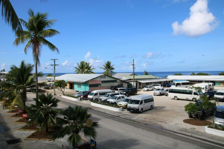 The Civic Center in Aiwo on the island of Nauru is serving as the venue of the Pacific Islands Forum