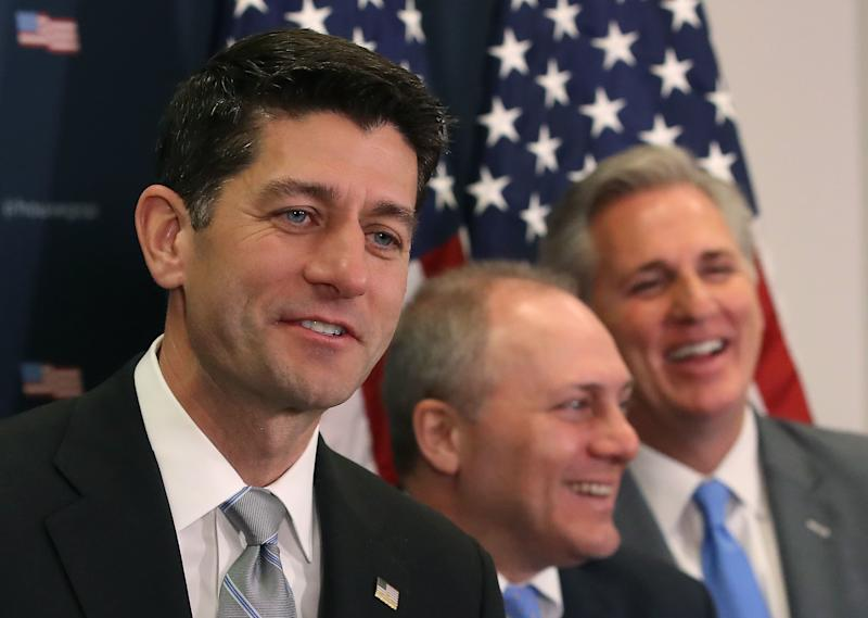 Speaker Paul Ryan (R-Wis.) joined other House and Senate leaders for a meeting at the White House on Thursday afternoon. (Mark Wilson/Getty Images)