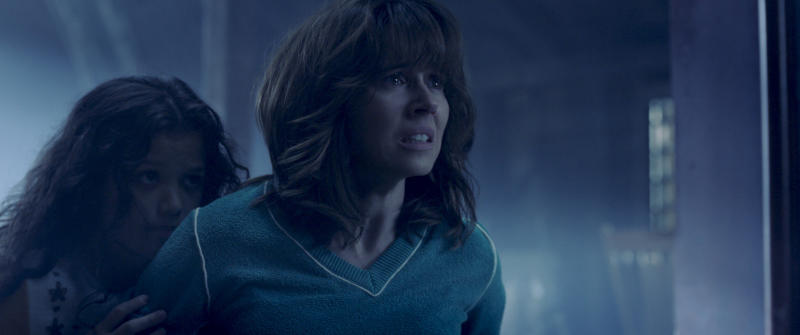 """This image released by Warner Bros. Pictures shows Jaynee-Lynne Kinchen, left, and Linda Cardellini in a scene from """"The Curse of La Llorona."""" (Warner Bros. Pictures  via AP)"""