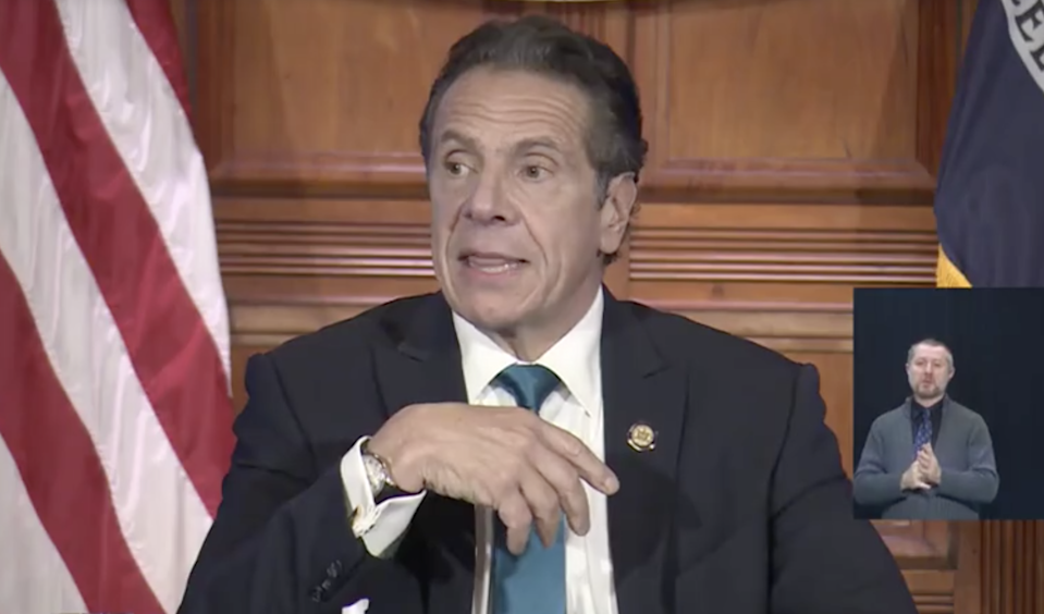 New York Governor Andrew Cuomo announces a first round of 170,000 vaccine doses are expected in the state by 15 December. (New York Governor Andrew Cuomo)