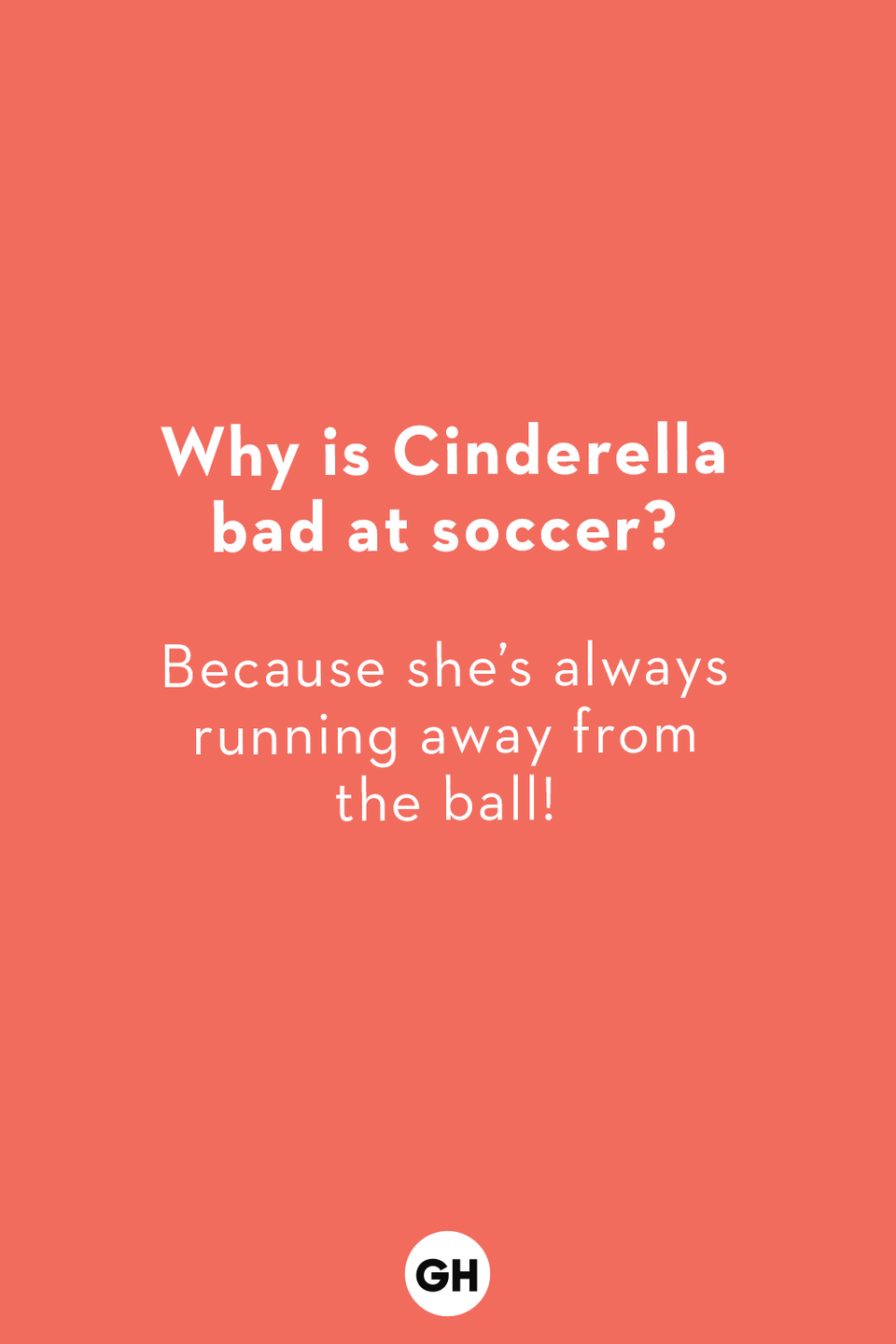 <p>Because she's always running away from the ball!</p>