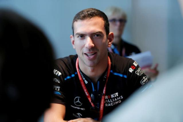 FILE PHOTO: Williams driver Nicholas Latifi ahead of the 2019 Abu Dhabi Grand Prix.