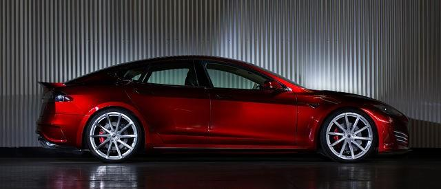 Saleen's Upgraded Tesla Model S Is Faster, Louder, Prettier And Grittier