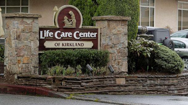 PHOTO: A sign at the entrance of the Life Care Center is show in Kirkland, Wash., near Seattle, March 2, 2020. (Ted S. Warren/AP)