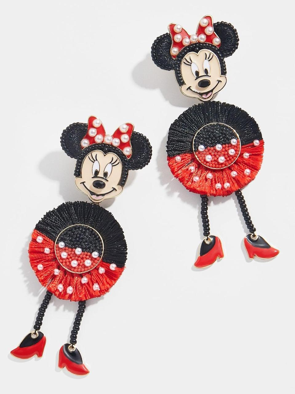 <p>If they're fans of vibrant jewelry, get them these <span>BaubleBar Minnie Mouse Statement Drops</span> ($54).</p>