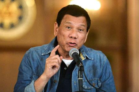 Philippine President Rodrigo Duterte announces the disbandment of police operations against illegal drugs at the Malacanang palace in Manila