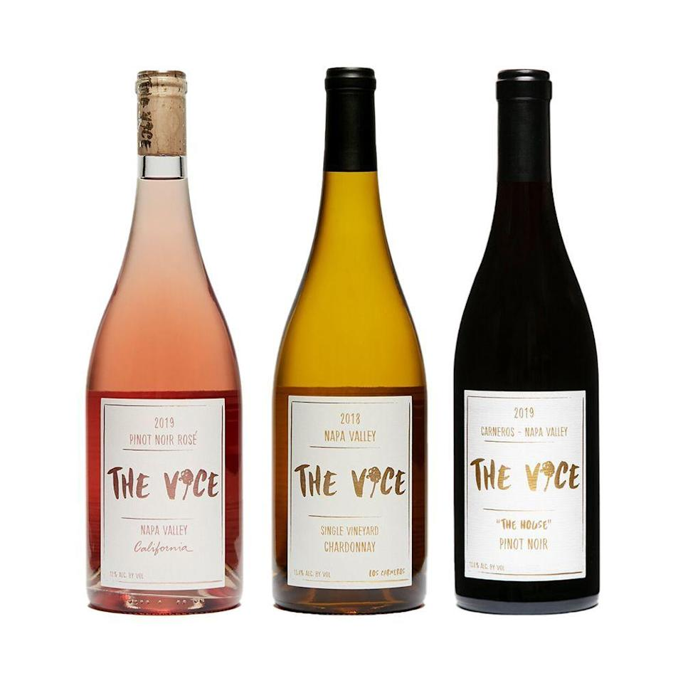 """<p><strong>The Vice Wine</strong></p><p>thevicewine.com</p><p><strong>$79.00</strong></p><p><a href=""""https://www.thevicewine.com/wine/mothers-day-gift-box"""" rel=""""nofollow noopener"""" target=""""_blank"""" data-ylk=""""slk:Shop Now"""" class=""""link rapid-noclick-resp"""">Shop Now</a></p><p>The Cool Moms Gift set says it all. With a bottle of red, a bottle of white and a rosé from family-run boutique vineyard Vice Wines, you can't miss. </p>"""